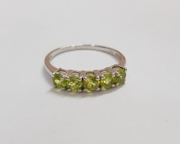 Peridot 925 Sterling silver ring #36235