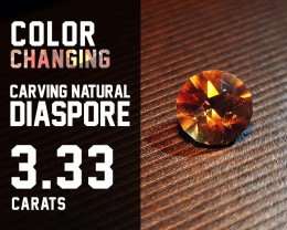 Top Quality! - 3.33ct - Diaspore Natural - Color Change