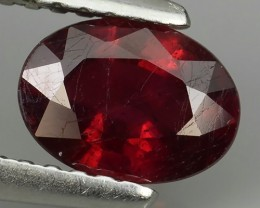 1.30 CTS GENUINE NATURAL ULTAR RARE LUSTROUS RED RUBY MOZAMBIQ