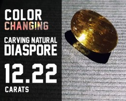 SALE !!Top Quality! - 12.22ct - Diaspore Natural - Color Change