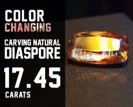 SALE !!!Top Quality! - 17.45ct - Diaspore Natural - Color Change