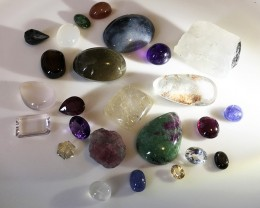 320.00CT A PARCEL OF GEMS AND SOME EXTRAS NO RESERVE!