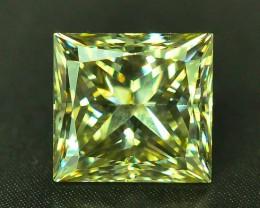 GIL Certified 1.01 ct Si1 Clarity Natural Diamond Fancy Greenish Yellow