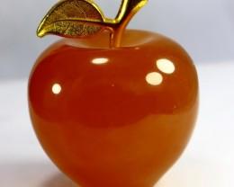 1123 ct unheated, Beautiful  Superb Orange Calcite Carved  Apple Shape