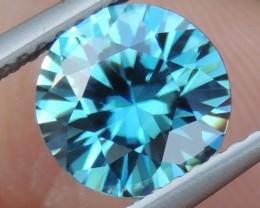 2.25cts, Blue Zircon,  Top Cut