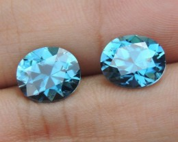 9.54cts, Blue Zircon,  Top Cut