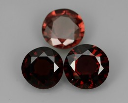 5.70 CTS EXTREMELY FINE FIRE 8 MM ROUND NATURAL  RHODOLITE  NR☆☆☆