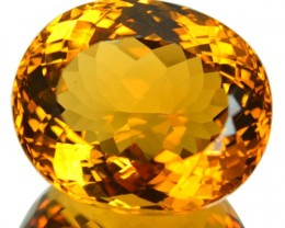 24.66 Cts Natural Golden Orange Citrine Oval Cut Brazil Gem