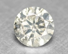 0.18 Cts Natural Pale White  Diamond Round Africa