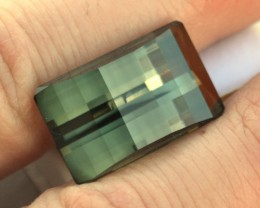 28.78 Carat Huge, Fancy Barrel Cut Green Tourmaline - Price Drop!