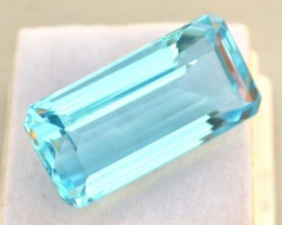 47.68 Carat Very Fine Long Octagon Cut Intense Sky Blue Topaz