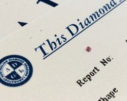 0.013ct 5P I2 Argyle Pink Diamond