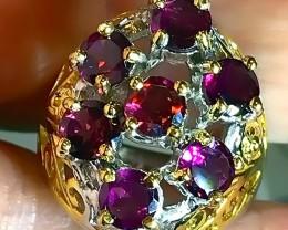 Rapturous Raspberry Rhodolite Garnet Ring Size 9