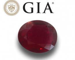 GIA Natural Unheated Pigeon's Blood Ruby|Loose Gemstone| New
