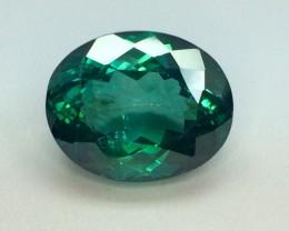19.15 Crt Natural Green Topaz Sparkling Luster Faceted Gemstone (999)