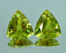 13.90 Cts Gorgeous Beautiful Lustrous Matching Pair Natural Sphene