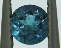 ---CERTIFIED--- 0.31 carats Blue Tourmaline - NO treatment  ANGC 757