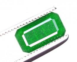 0.90 Ct Ravishing Color Natural Vivid Green Emerald ~ RA