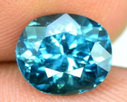 2.15  cts Top Grade  Oval Cut Pariaba Color Indicolite  Afghan Tourmaline G