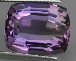 15.15  CTS SUPERIOR! TOP PURPLE-AMETHIYST GENUINE CUSHION SHAPE