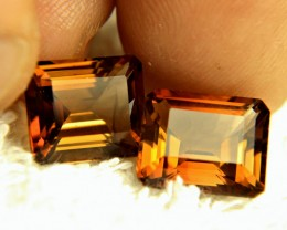 14.51 Tcw. Brazilian VVS Golden Topaz Pair - Gorgeous