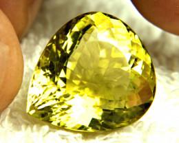 32.77 Carat VVS African Fancy Lemon Quartz - Superb
