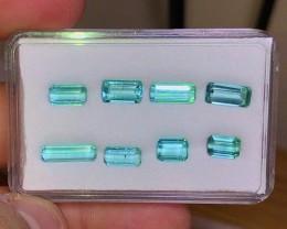 10.20 cts Sky Blue Tourmaline Parcel - VVS