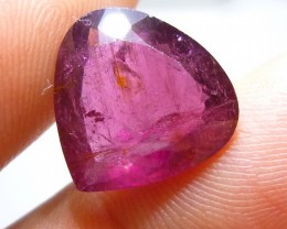 Certified 9.80ct Rubelite Tourmaline , 100% Natural Gemstone