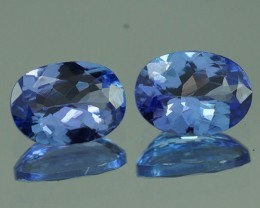 7X5 MM  BLUISH VIOLET 100% NATURAL TANZANITE PAIR -TZ0065