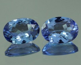 7X5 MM  BLUISH VIOLET 100% NATURAL TANZANITE PAIR -TZ0079