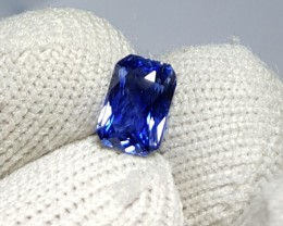 CERTIFIED 1.14 CTS NATURAL BEAUTIFUL VVS TOP QUALITY ROYAL BLUE SAPPHIRE SR