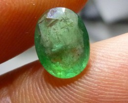 Certified 1.65cts  Emerald , 100% Natural Gemstone