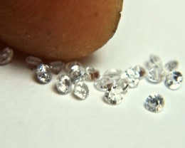 1.0 Tcw. White Zircon Accents - 2.0mm - 20pcs