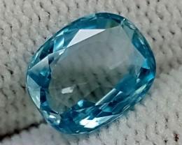 3.15CT BLUE ZIRCON  BEST QUALITY GEMSTONE IGC445