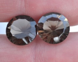 4.400 ct Smokey Quartz Matched Set     JC