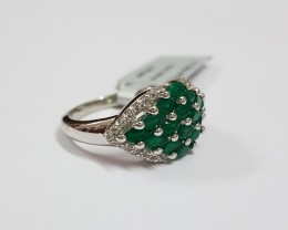 Green onyx 925 Sterling silver ring #457