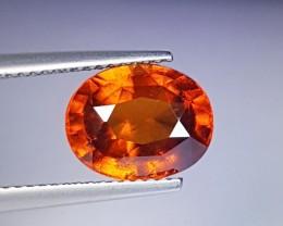 "4.56 Ct "" IGI Certified "" Stunning Orange Oval Cut Natural  Hesso"