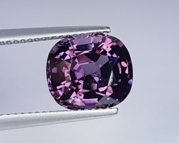 "5.39 ct ""IGI Certified"" Beautiful Purple Cushion Cut Natural Spin"
