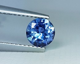 0.92 cts Amazing Blue Round Cut Natural Tanzanite