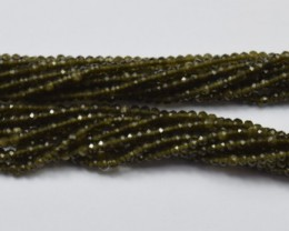 100% NATURAL AUTHENTIC CATS EYE FACETED RONDELLE BEADS (1 STRAND ONLY