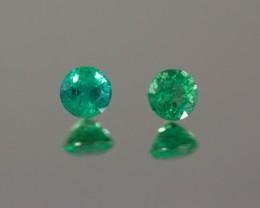 Green Emerald 4.55 - 4.60 mm 0.78 ct Zambia GPC Lab