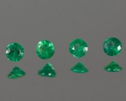 Green Emerald 2.90 - 2.93 mm 0.35 ct Zambia GPC Lab