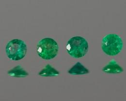 Green Emerald  3.09 - 3.12 mm 0.39 ct Zambia GPC Lab