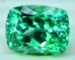 21.00 cts Cushion Cut Lush Green Spodumene Gemstone From Afghanistan