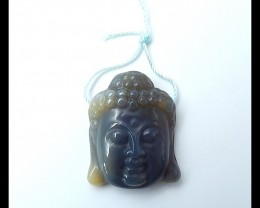 57ct Natural Red Agate Carved Buddha Head Necklace Pendant(18051602)