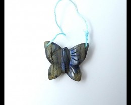 30.55ct Natural Labradorite Carved Butterfly  Pendant(18051612)