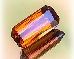 Certified 3.14ct High Ranking Superior Quality Mandarin Garnet