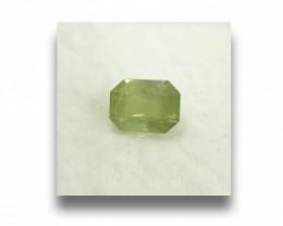 Natural Unheated Yellowish Green Sapphire|Loose Gemstone|Sri Lanka