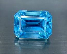 2.15 Cts Blue Zircon Awesome Color ~ Cambodia Pk14