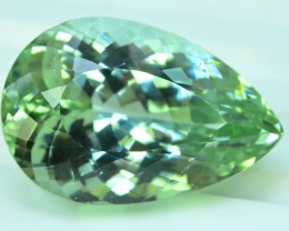 31.13 cts Beautifull Pear Cut Lush Green Spodumene Gemstone From Afghanista